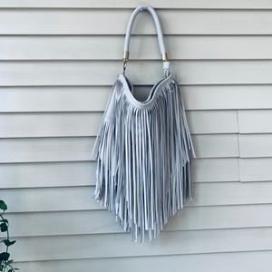 Handbags - Fringe Hobo Bag